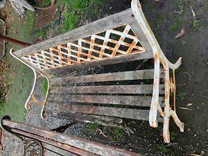 Vintage garden bench seat cast iron