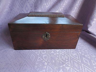 Georgian Sarcophagus Mahogany Tea Caddy or Sewing Box