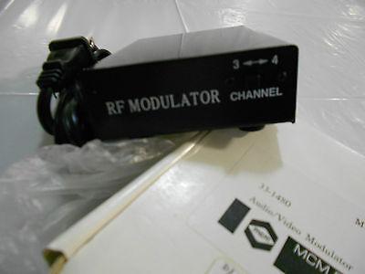 mcm electronics rf modulator audio video inputs  Rf Modulator-audio