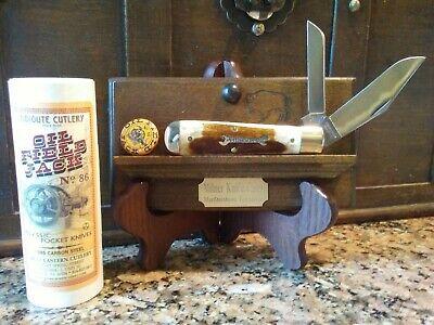 "Great Eastern Knife, #861219 Oil Field Jack, PPP, Oily Creek Bone 3 7/8"" clsed"
