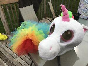 Unicorn mask and tutu