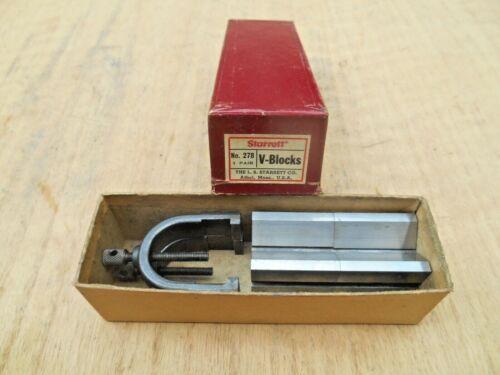 STARRETT NO. 278 V-BLOCKS , WITH BOX , USA.