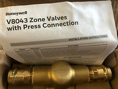 Honeywell V8043f1512u Zone Valve With Press Connection