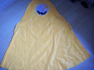 GEORGE HALLOWEEN PUMPKIN OUTFIT RAIN CAPE AGE 2-3-4 NEXT DAY POST