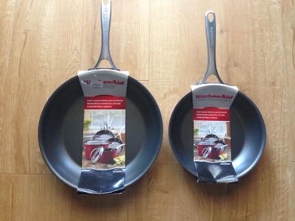 Kitchen Aid Nonstick Frying pan - set of 2 - 31cm & 25cm