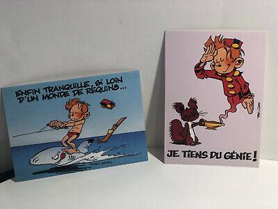 Lot de 2 cartes postales Spirou