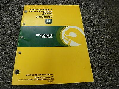 John Deere 7200 4 6 Row Narrow Drawn Planter Owner Operator Manual Oma52741