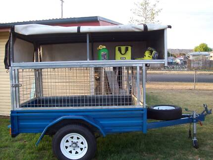 Trailer 6 x 4 with cage and storage shelf