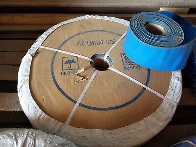 Blue Pvc Lay Flat Discharge Hose 3 Id X 150