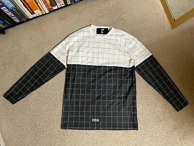 Hood By Air HBA Long Sleeve Shirt Mens Size XL Grid Black White