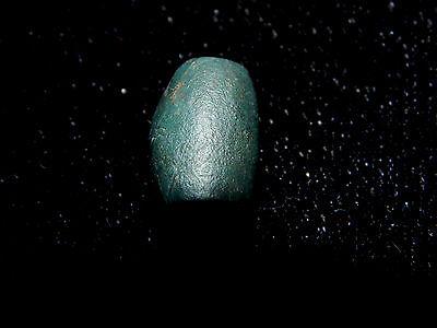 Pre-Columbian Blue Jade Bead, Nicoya Costa Rica, Small Tubular Bead