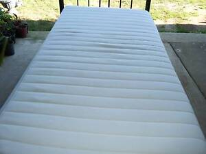 Single bed metal frame with timber slates including  foam mattres Kallangur Pine Rivers Area Preview