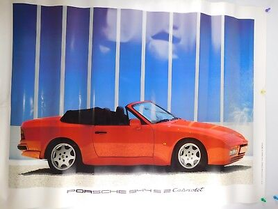 Vintage 1989 Porsche 944 S2 Dealership Advertising Poster WWM 353410 2