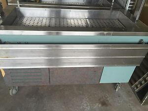 Two cooling buffets tables