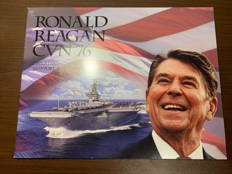 USS Ronald Reagan CVN 76 Christening Navy Ceremony Program