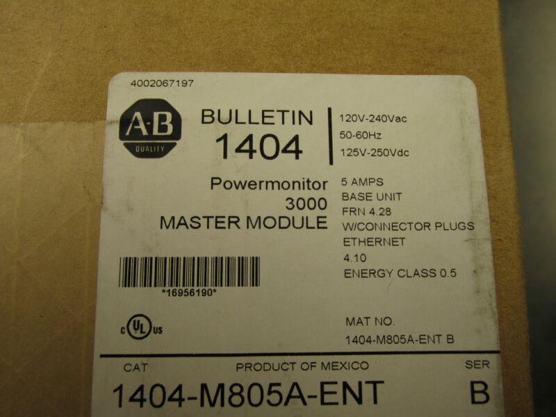 New Allen Bradley 1404-m805a-ent Powermonitor 3000 Master Module