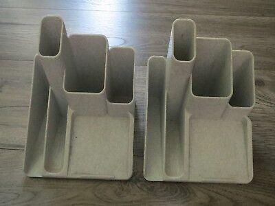 Gray Plastic Set2 Penpaperoffice Supply Desk Organizer