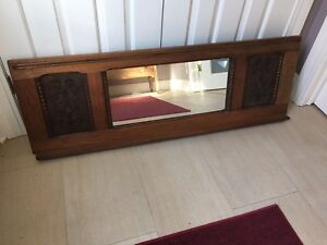 Antique piano mirror