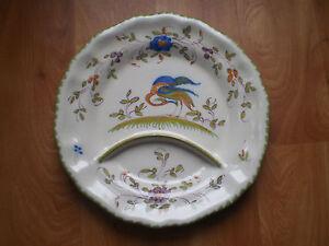 faience ancienne 4 martres tolosane ribet bonnassies assiette asperge tbe ibis ebay