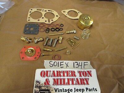 Jeep Willys Kaiser CJ3B CJ5 134F Solex Carburetor master rebuild kit  for sale  Shipping to Canada