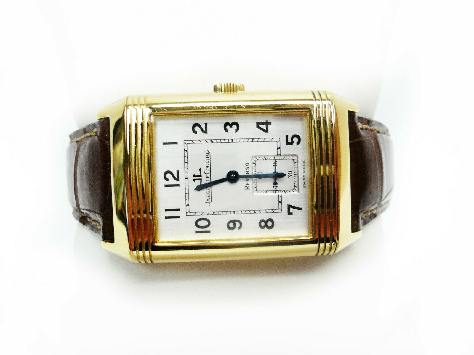 Jaeger-Lecoultre Reverso 18K Gold Grand Taille 270.1.62. Strap Mechanical Watch - watch picture 1