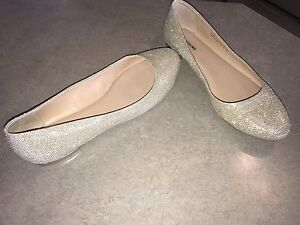 Sparkly Champagne Flats from Spring