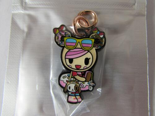 Jujube Tokidoki Kawaii Carnival Friends Zipper Pull Donutella Wearing Sunglasses