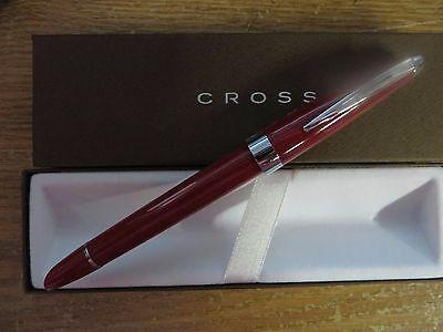 Cross Aventura Fire Engine Red Fountain Pen in Cross Gift Box Medium Nib $79.00