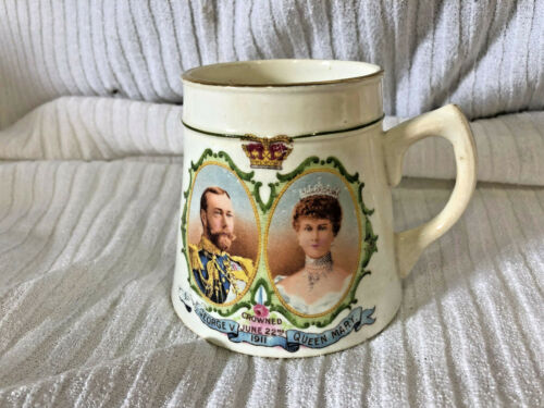 ANTIQUE WINTONIA CORONATION CHINA CUP GEORGE V 7 QUEEN MARY 1911