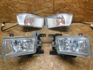 97 2003 JDM MITSUBISHI CHARIOT N80/90 4PIECE BUMPER FOG LIGHT SIDE LIGHT SET OEM
