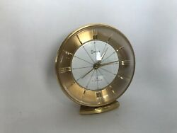 Vintage Swiza 7 Jewels Small Table Manual Wind Up Alarm Clock. Swiss Made