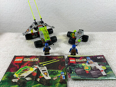 Lego Vintage Space UFO 2 Sets 6818 Cyborg Scout And 6829 Radon Rover