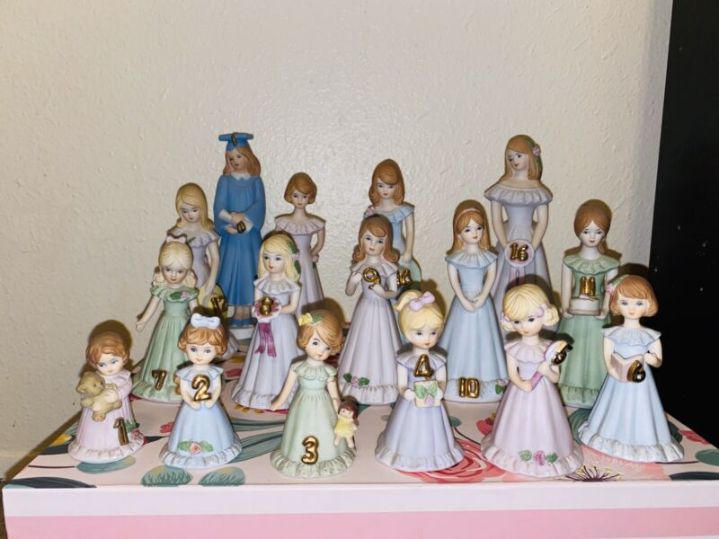ENESCO GROWING UP BIRTHDAY GIRL FIGURINES