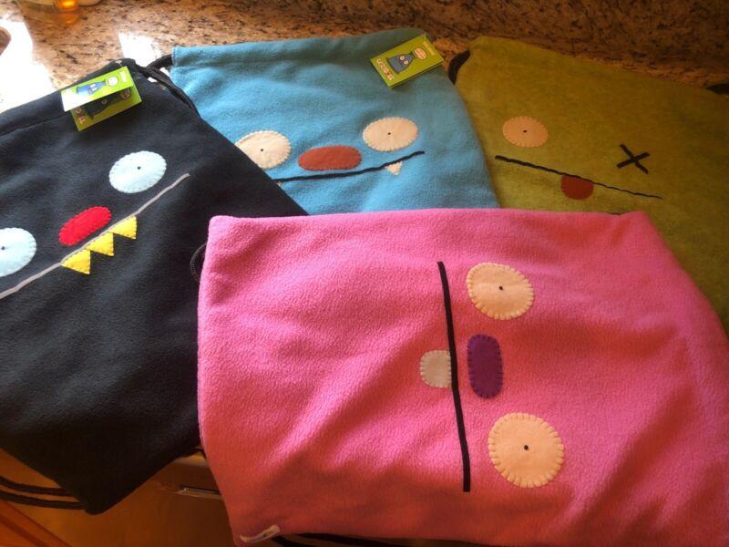 "Uglydolls PINK Only Backpack Drawstring Bag Plush Bookbag NEW W/ TAGS 11"" X 17"""