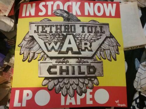 JETHRO TULL 1974 WAR CHILD CHRYSALIS US PROMO POSTER NMINT RARE CLEAN VTG HTF!