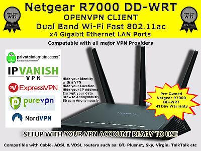 NETGEAR R7000 DD-WRT FAST VPN ROUTER IPTV KODI OPENVPN ZGEMMA MAGBOX FIRESTICK