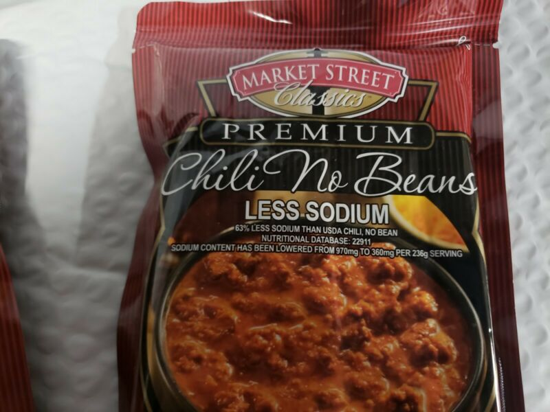 Market Street Classics Premium BEEF Chili - No BEANS - FULLY COOKED EXP 10-2022