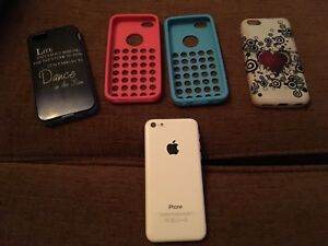 Iphone 5C blanc avec Bell