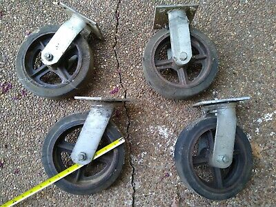 Vintage Antique 8 Swiveling Caster Wheels