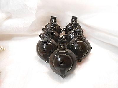 Neue!!!alte Antike Steckdosen Bakelit AP Aufputz  Schukosteckdosen Feuchtraum