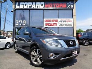 2014 Nissan Pathfinder Platinum,2Dvds,Navigation,Panoramic*Low K
