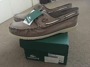 Lacoste men's shoes 9.5, brand new, brown