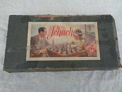 Altes Schachspiel Si Si Glasfiguren