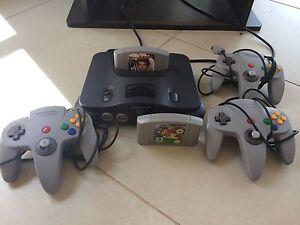 Nintendo 64, goldeneye, mario 64, 3 controllers, hdmi adapter Grange Charles Sturt Area Preview