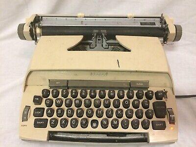 VTG Sears Celebrity Manual Typewriter Works Missing Keys Writing Typer Cream