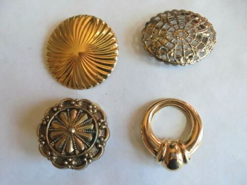 Nice Vintage Lot 4 Ladies Dress or Scarf Costume Jewelry Clips 1 Marked Jeri-Lou