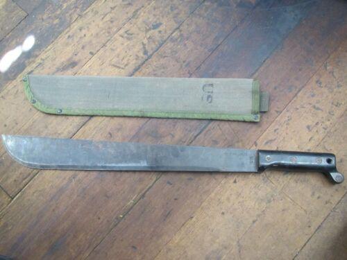 """Vintage US military 18"""" machete Ontario knife co"""