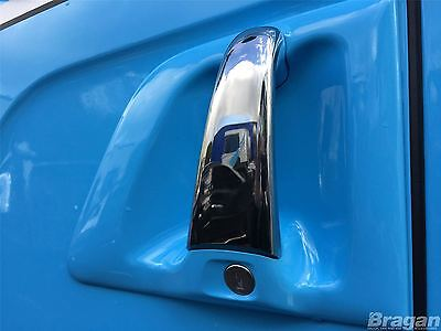 To Fit Scania 4 R P G 6 Series Chrome Door Handle Covers Centre 2 Piece Pair
