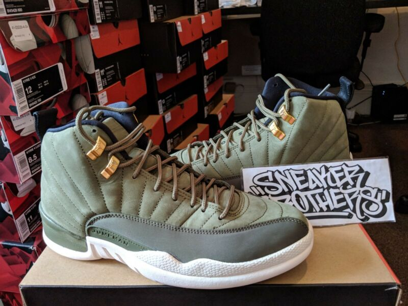 Nike Air Jordan Retro XII 12 CP3 Class of 2003 Olive Sail 130690-301 Chris bf981a6fb
