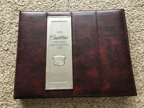 1973 Cadillac  original dealership showroom salesmans  data and color trim album